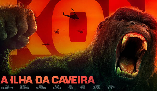 Cinema Filme Kong A Ilha da Caveira