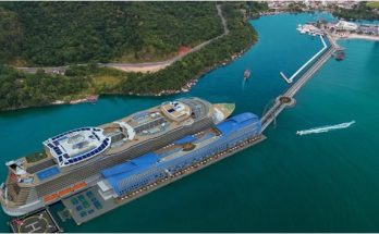 Porto em Balneario Camboriu Terminal de passageiros para cruzeiristas